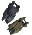 Tactical Hunting 2 pcs Noctilucent Folding Front Rear Flip Backup Sights Set Scope Mount Rifle Hunting
