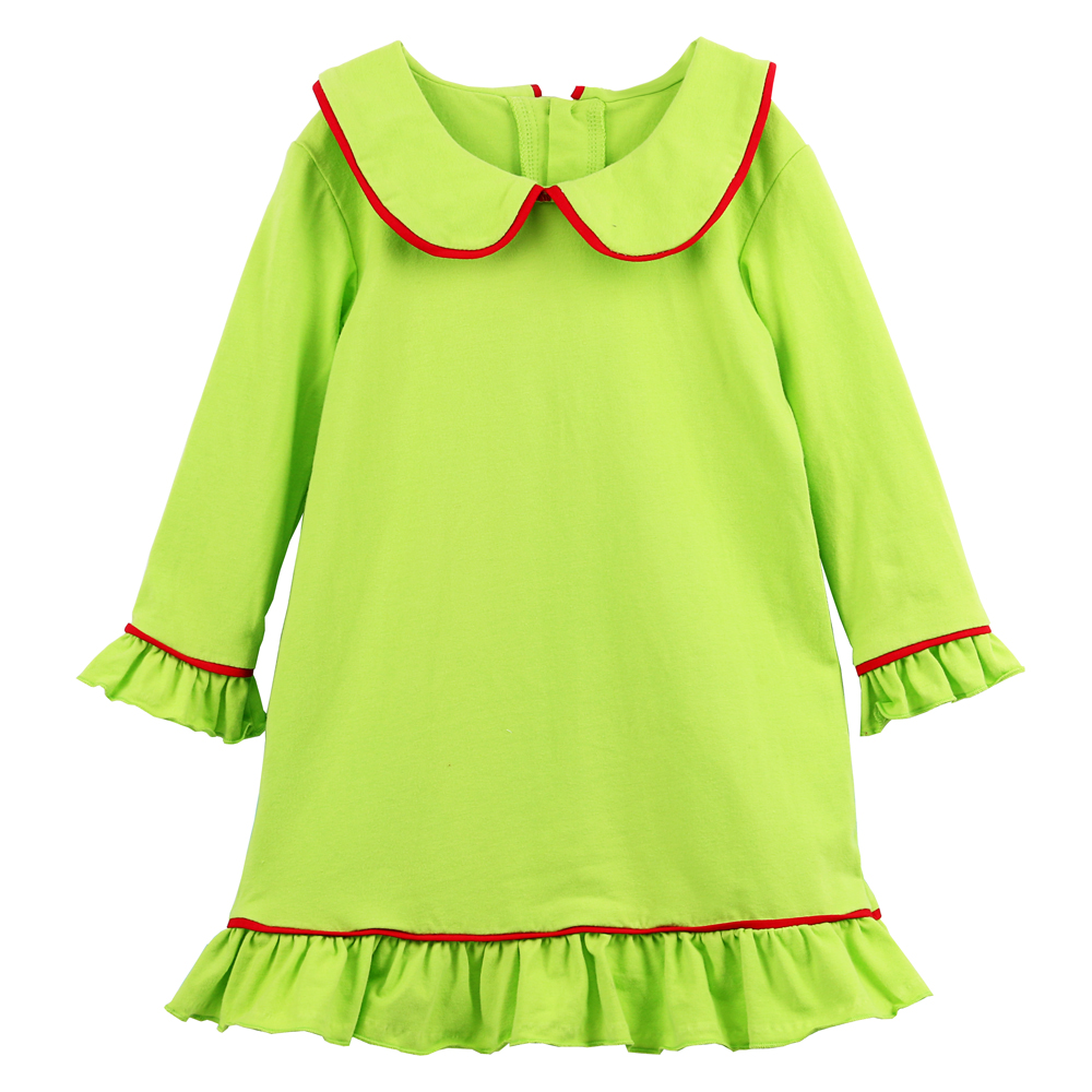 2020 kaiyo winter kinder kleidung weihnachten kleid kalk mit weiß trim  kinder nacht kleid mädchen pyjama kleid - buy mädchen pyjama kleid,kinder  nacht