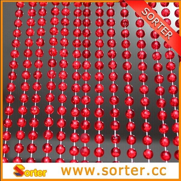 red color round beads plastic bead curtain for room divider and decoration buy plastic bead curtain for room divider bead curtains for windows room divider curtain in plastic product on alibaba com