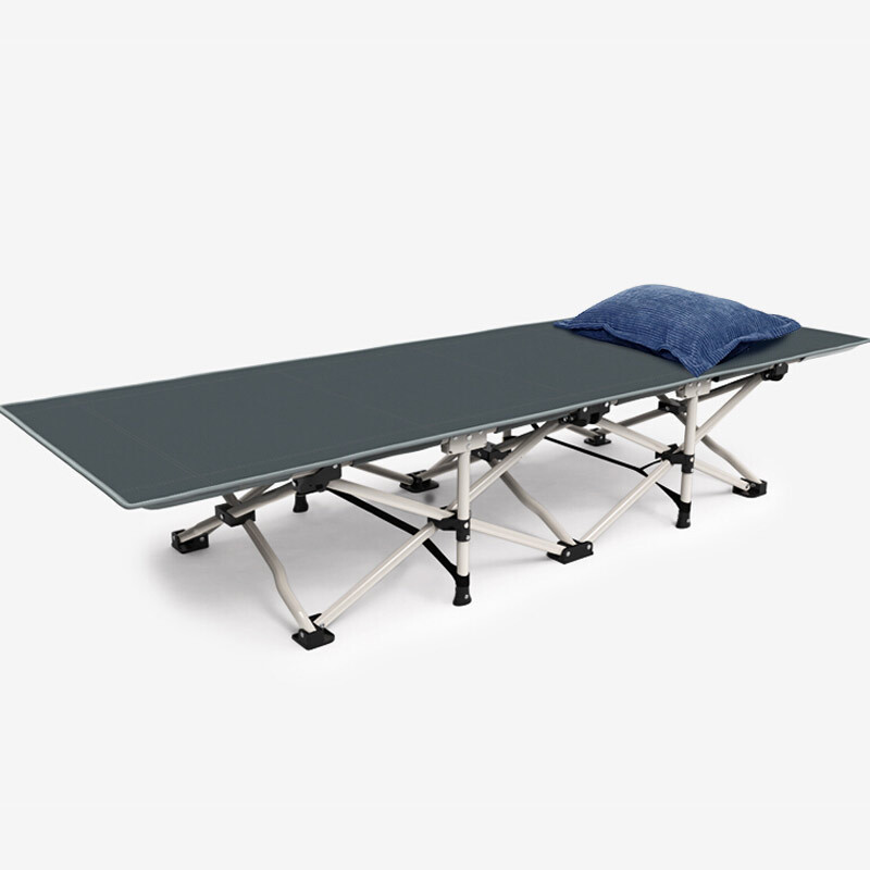 High Load-bearing Folding Single Bed for camping cot with side bag