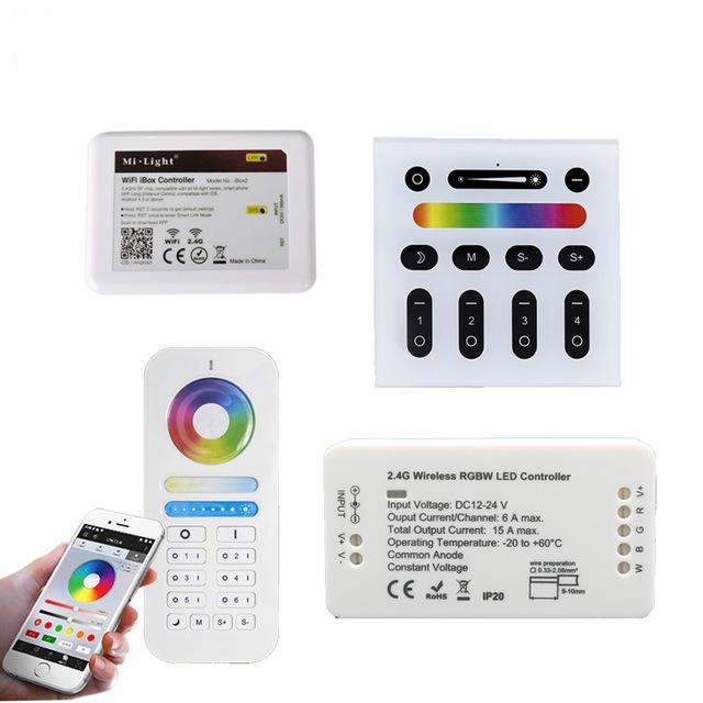 MiLight RGB RGBW RGB+CCT Controller Dimmer Remote 2.4G RF Wireless LED Remote