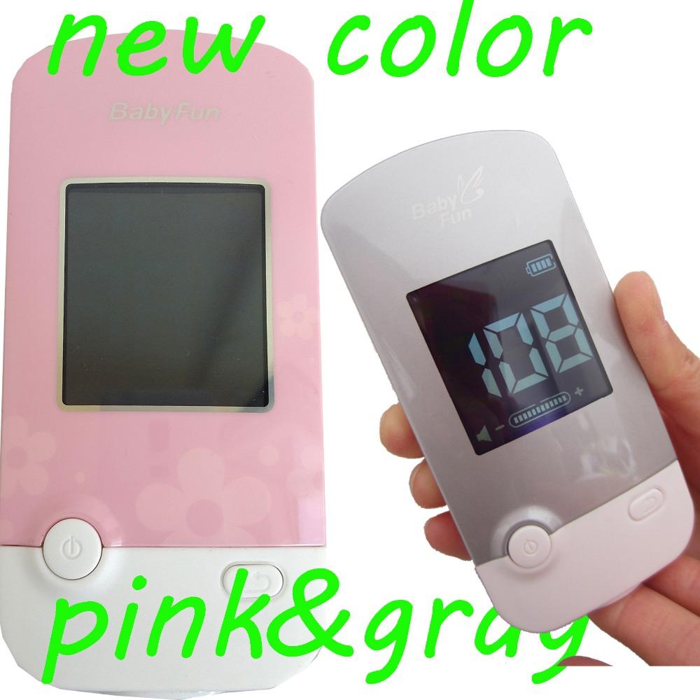 Новые плода доплеровского mp3-спикер жк-экран наушник-розовый / серый сигнализации с низким энергопотреблением напоминание фхр 2.5 мГц зонд