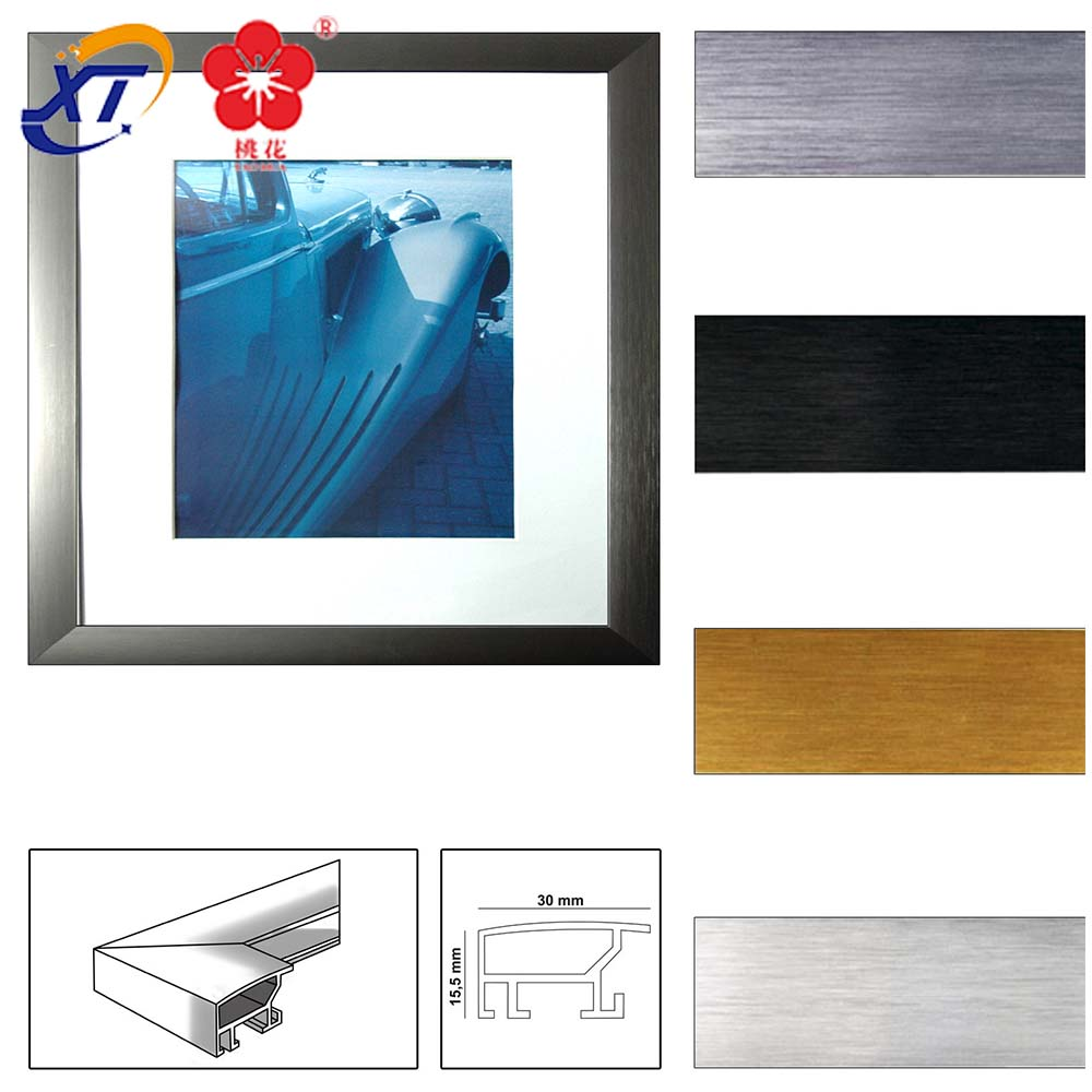 Экструдированная рамка для фотографий, алюминиевая анодированная алюминиевая рамка для фотографий, производство Китай, 2020