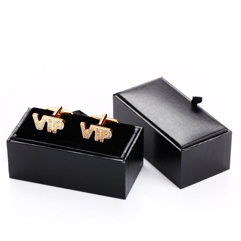 Mens Luxury Black Cufflink Box Jewelery Display Organizer Jewellers Shop