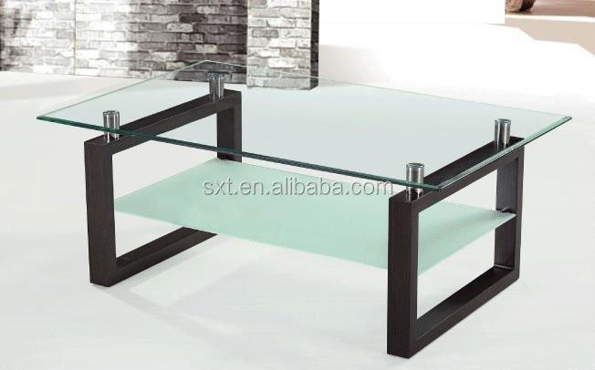 Living room furniture modern wooden center table design - Glass centre table for living room ...