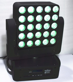 25 led beam moving head light matrix rotate 4in1 15w