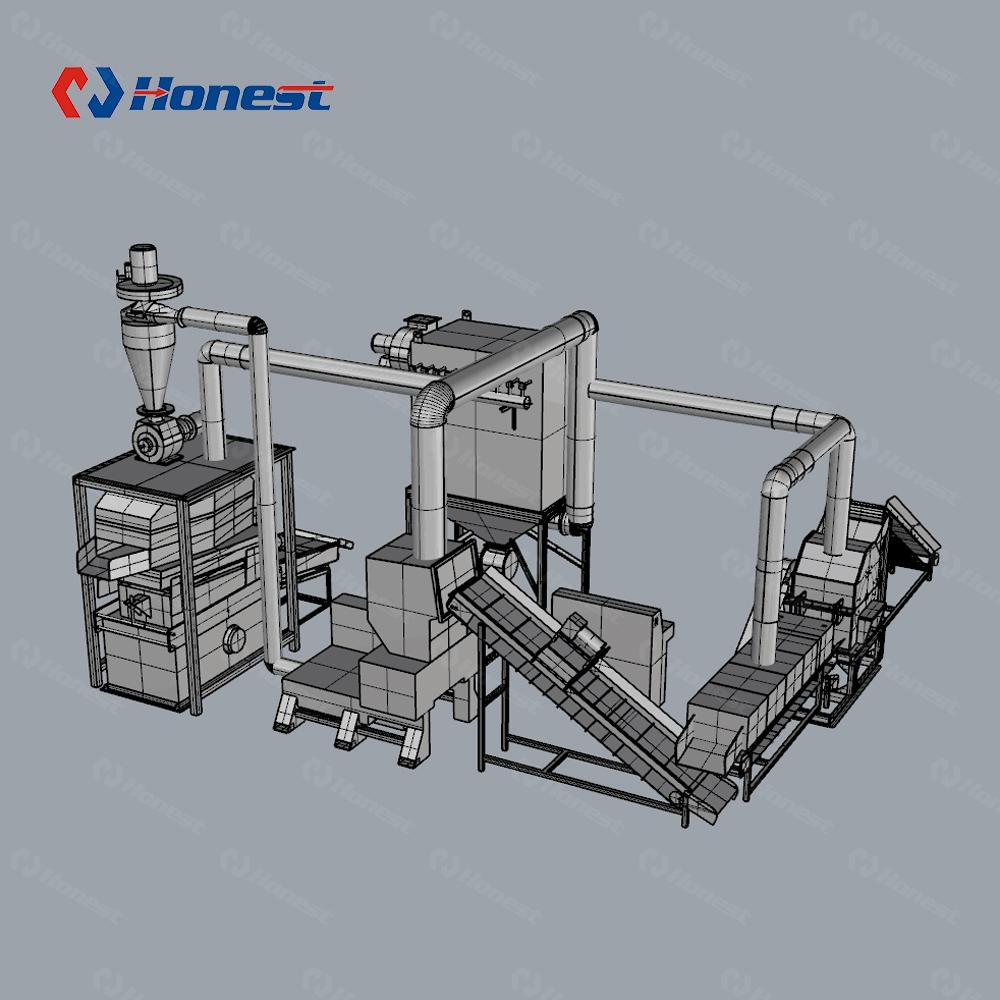 Высококачественная машина для переработки отходов двигателя