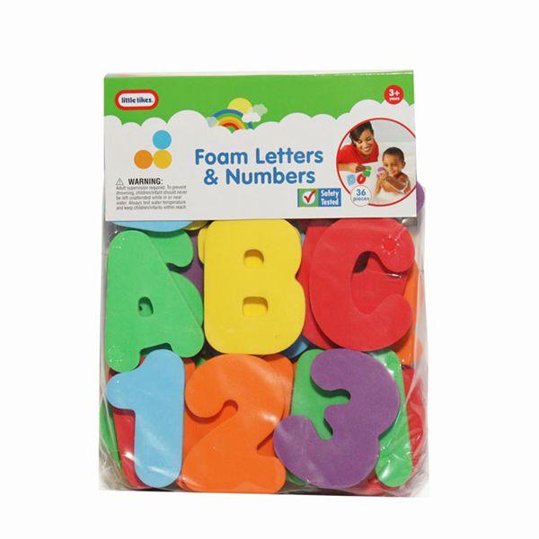 Custom baby small bath toys summer eco friendly foam letters eva education alphabet set boy tub learning water game toy for kids