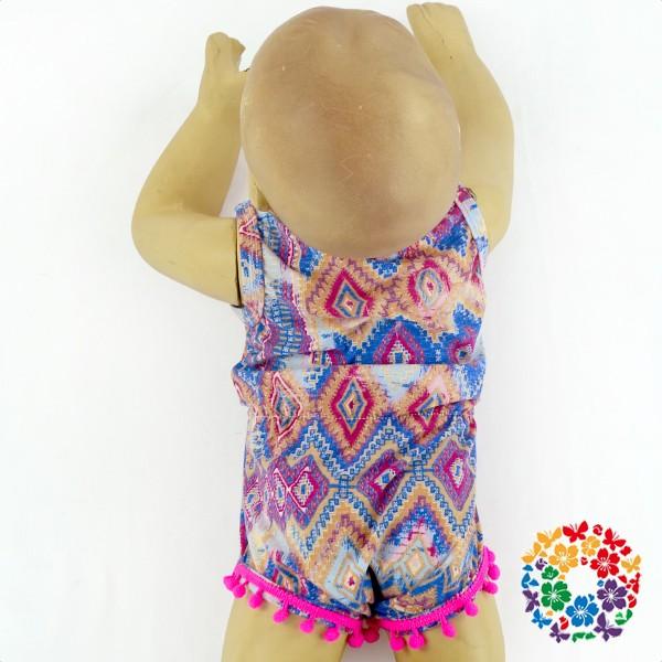 930832b66 06Hot Pink Pom Pom New Style Baby Romper Infant   Toddler Romper ...