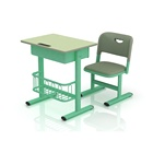 Wholesale primary child green study table and chair commercial furniture school for classroom