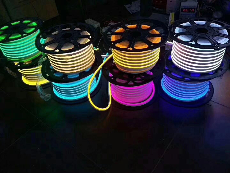 Китай горячие Slaes 120 светодиодов/м открытый мост Модель дизайн 220 в 240 В Высокое напряжение неоновый светодиодные гибкие полосы Твердые веревки свет