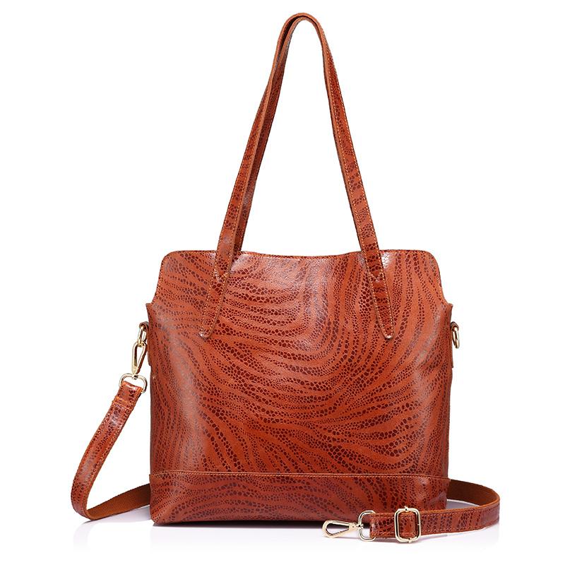 Realer Женская сумка большая емкость сумка натуральная кожа сумка Высокое качество из коровьей кожи(Китай)
