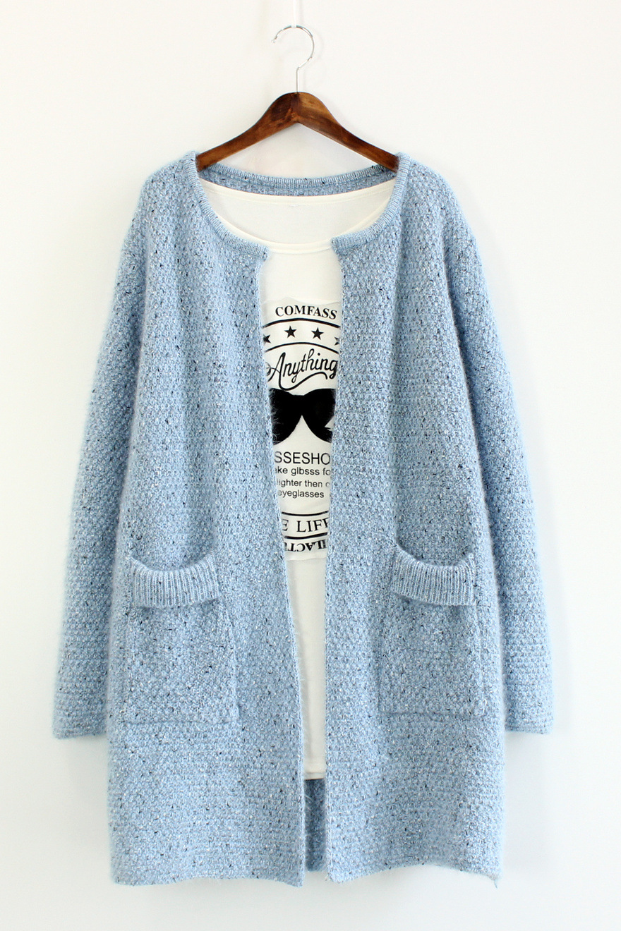 2016 Autumn font b Winter b font Women Sweater Warm Mohair O Neck Women Cardigan Long