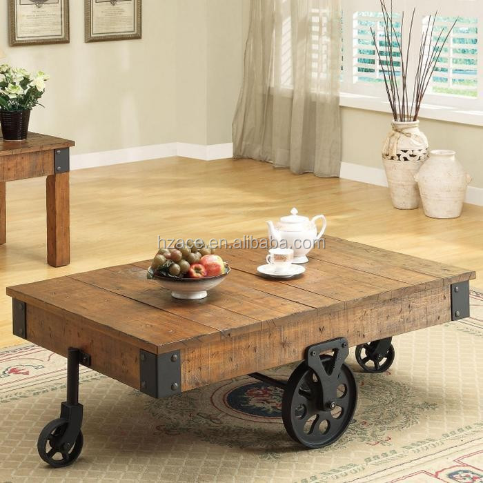 Distressed Wood Country Wagon Coffee Table With Wheels Buy Modern Coffee Table Coffee Table With Wheels Living Room Wood Coffee Tables With Wheels Antique Coffee Table With Wheels Product On Alibaba Com