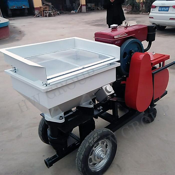 Шланг 30 метров, дизельный двигатель, автоматическая машина для штукатурки раствора/распылитель песка