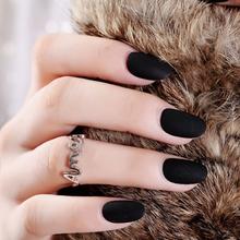 Длинные накладные ногти Королевского синего цвета, матовые накладные ногти на шпильках, матовые закругленные накладные ногти на ногтях, на...(Китай)