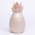 Vintage Decor Made In China Royal Gold Plated Pineapple Ornaments Vintage China Ceramic Home Decor