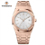Simple style Rose Gold all stainless steel Analog uhren wrist watches for men