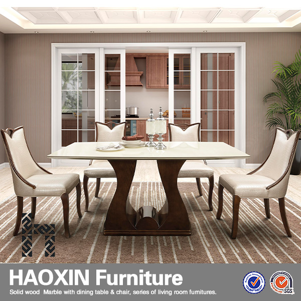 White Leather Dining Chairs And White Marble Dining Table With Walnut Wooden Table Base Buy Cheap Dining Table And 6 Chairs Restaurant Dining Tables And Chairs Bamboo Dining Table And Chairs Product On