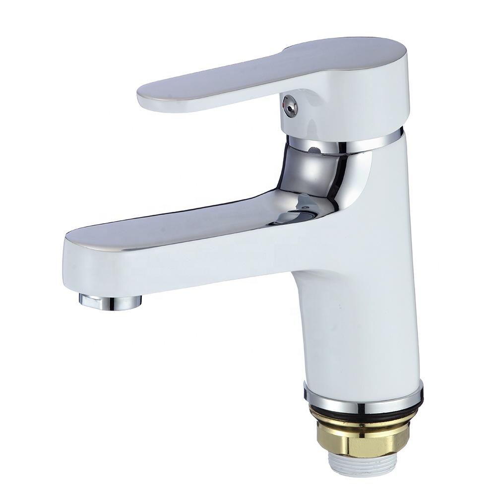 Хромированный смеситель для ванной комнаты с одной ручкой и смесителем, Цинковый смеситель для раковины