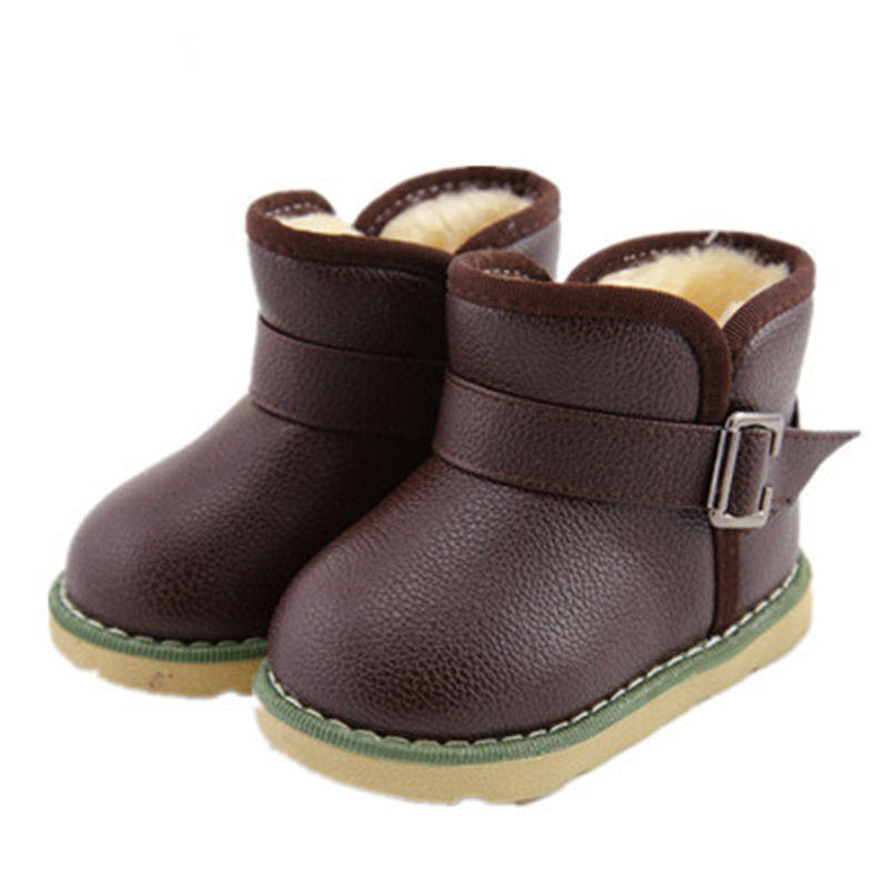 2015 winter fur boots baby shoes boys baby snow boots