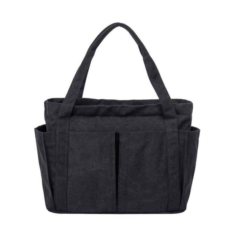 Black Large Durable Ladies Canvas Reusable Tote Bag