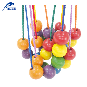 Kids DIY 25mm Colorful Round Wooden Beads For Jewelry Making
