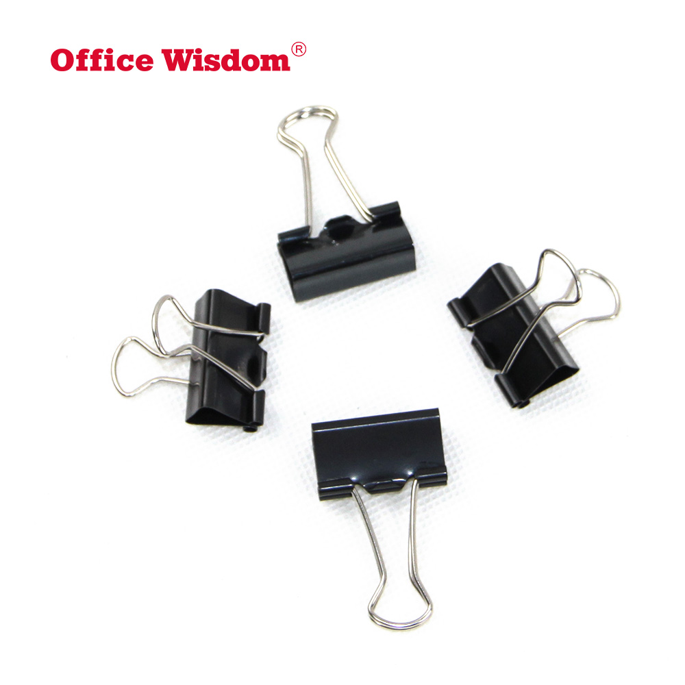 Small Size Printed Metal Binder Clip set Paper Clip Clamp Office School Binding Supplies