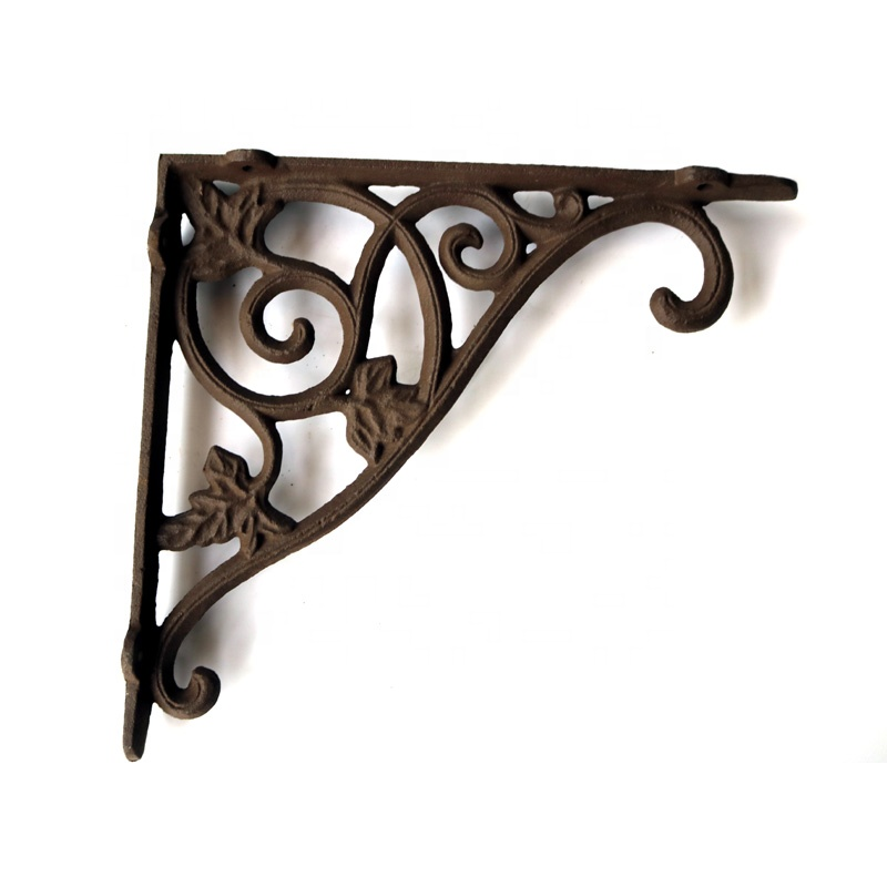 A beautiful Cast Iron corner bracket, perfect for shelving or to use as a hanging basket hook!