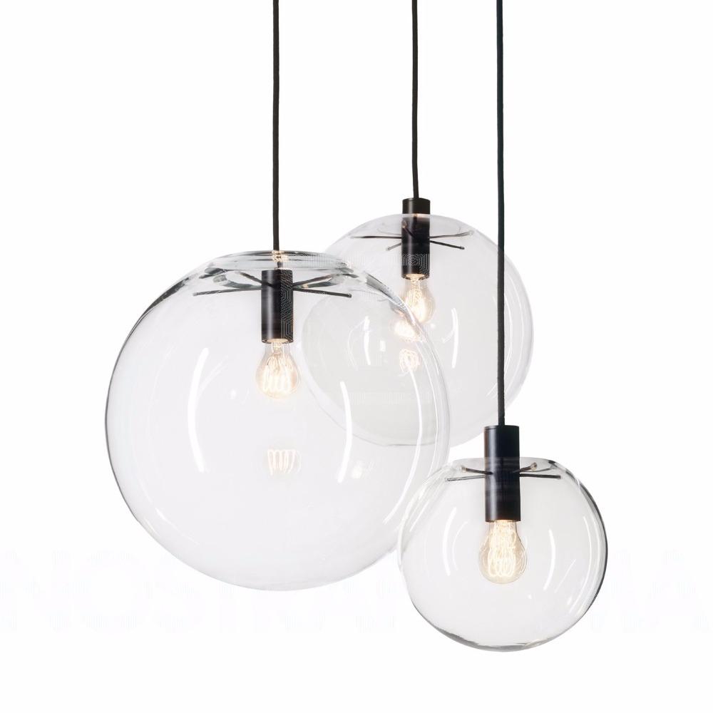 buy nordic pendant lights globe lamp shade glass ball pendant lamp e27 lustre. Black Bedroom Furniture Sets. Home Design Ideas