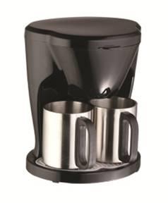 Домашняя автоматическая кофеварка с одной чашкой из нержавеющей стали