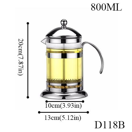 Нержавеющая сталь портативный французский пресс кофейник чайник машина Мока с фильтром фильтр путешествия боросиликатное стекло кофейник(Китай)