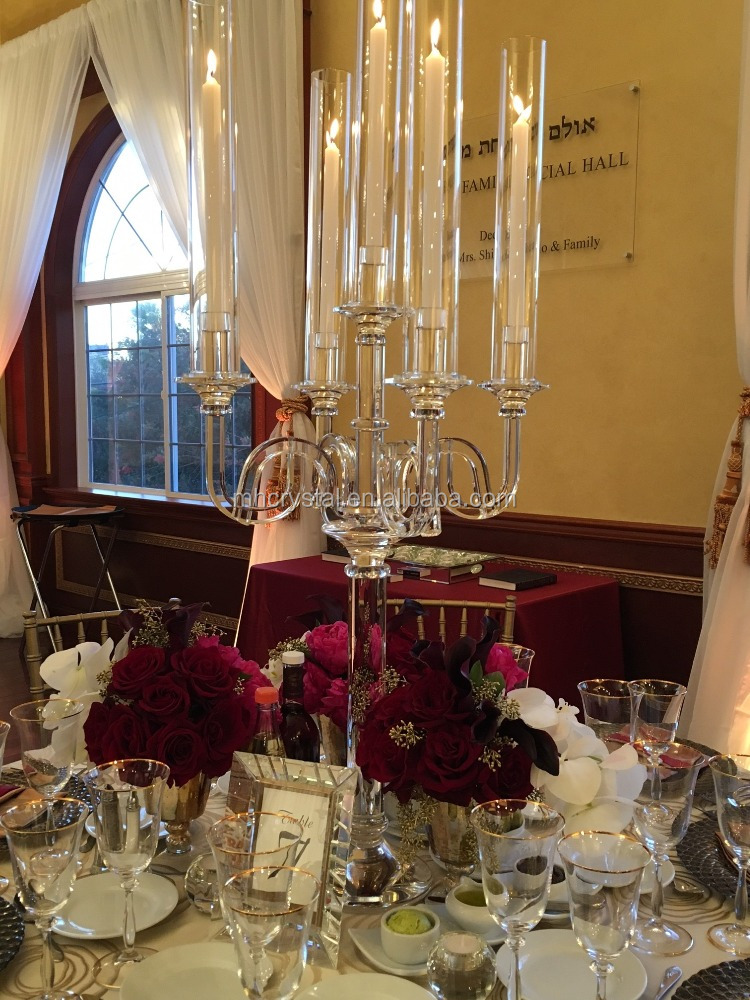 5 arms crystal candle holder candelabra MH-1989
