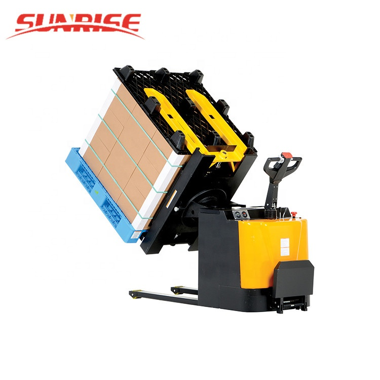 New Warehouse Equipment WPR100 Electric Power Pallet Inverter with 180 Angle Rotate