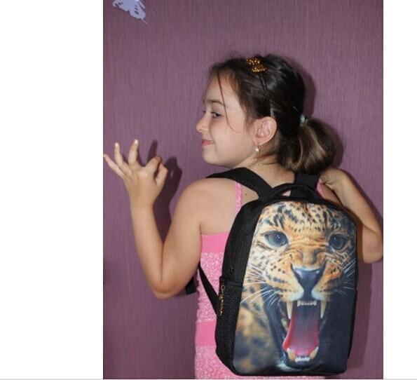 2015 прохладный плохая собака печать маленьких детей школьного рюкзака детский животных зоопарка Bagpack мальчиков детский сад рюкзак Bolsas infantil