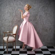 Асимметричное бальное платье с коротким рукавом, Роскошные вечерние платья с жакетом 2020, бальное платье для выпускного вечера(Китай)