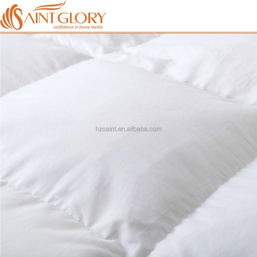 Hypoallergenic Oeko Tex White Color Comforter Duvet Insert Luxury 50% Duck Down and Feather Quilt Inner