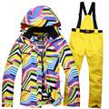 Cheap winter Snow suit Sets Zebra crossing Women skiing snowboard ski clothes windproof waterproof outdoor sports