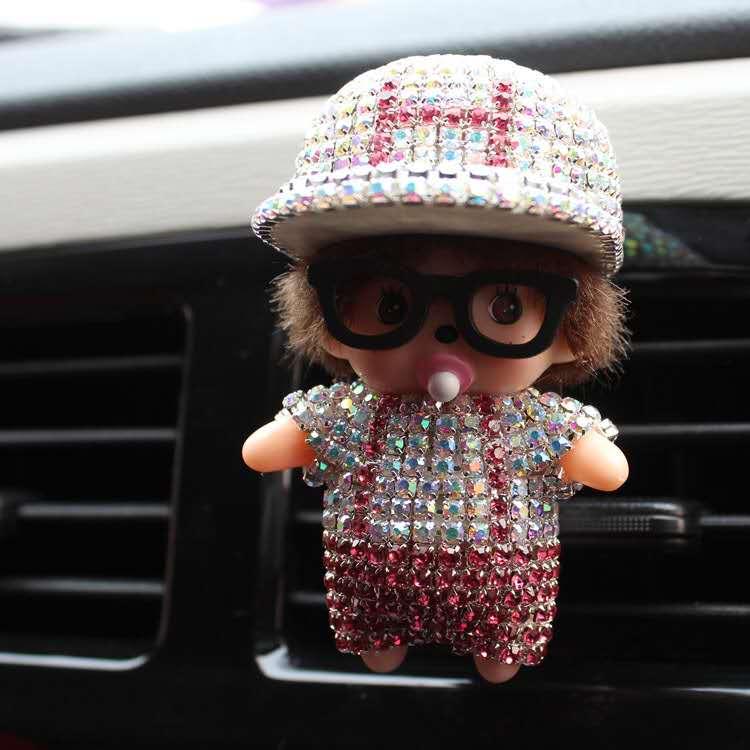 Car Decoration Perfumes Clip Shape Diamond perfume car air freshener essential car oil diffuser Little Boy Doll