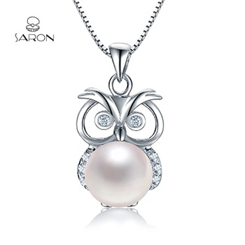 Sharon Wholesale 925 Sterling Silver Owl Pearl Pendant Mounting For Necklace Jewelry