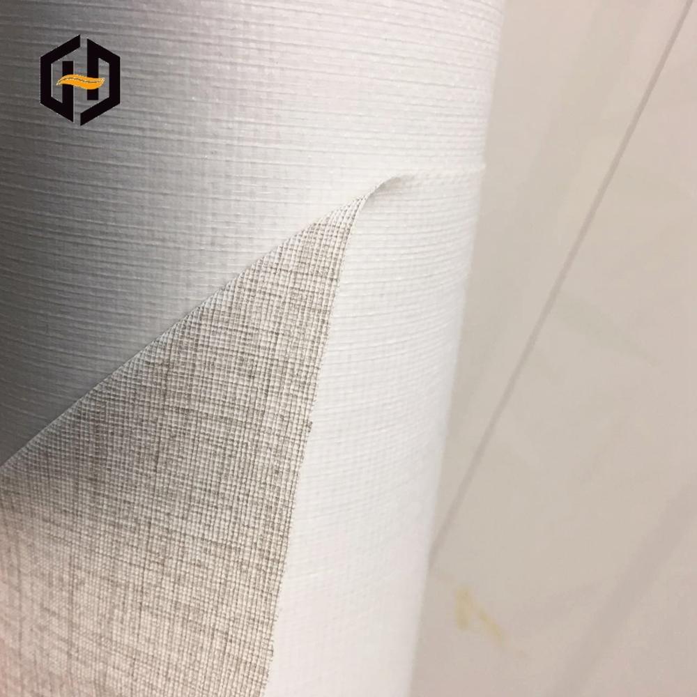 Китайские производители, бесшовная, хорошо строгая, 100% полиэфирная Базовая серая ткань для виниловой настенной ткани