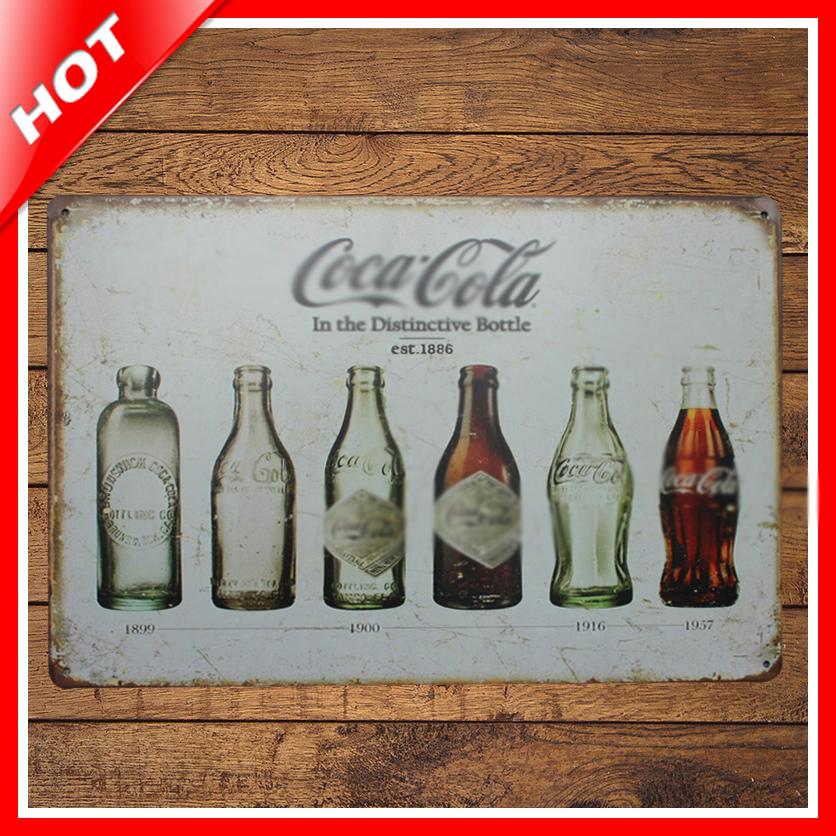 shabby chic bottle vintage tin sign vintage metal sign. Black Bedroom Furniture Sets. Home Design Ideas