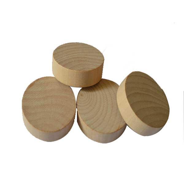 Flybloom Cercles en Bois Ronds Naturels Non Finis avec des Disques De Rondins d/Écorce darbre pour Bricolage Artisanat 10pcs 3 4cm