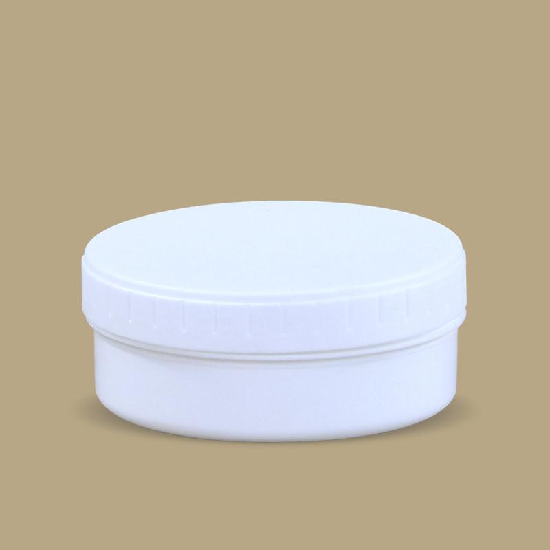 Простой дизайн 150 мл пользовательский пустой круглый Печатный пластиковый полипропилен косметика для волос уход за кожей крем для лица Тени для век основа для макияжа банка