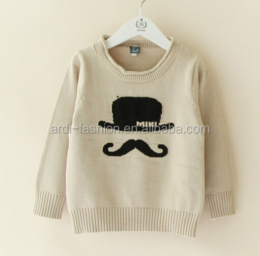2015 derni res ours moustache intarsia tricot pull b b pull id de produit 60164289681 french. Black Bedroom Furniture Sets. Home Design Ideas