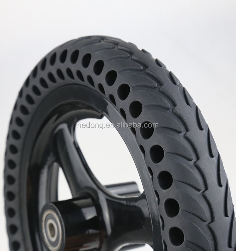 12*1.5 All-In-One Solid Airless Small Electric Bike Wheel