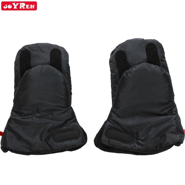 Black stain resistant Comfortable Soft Stroller Pushchair Hand Muff Gloves