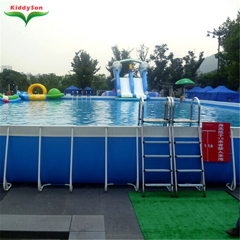 Commercial Big Pvc Metal Frame Swimming Pool For Backyard Hot Sale Large Rectangular Frame Pool Set For Kids And Adults Buy Frame Swimming Pool Metal Frame Swimming Pool Rectangular Frame Pool Set Product On