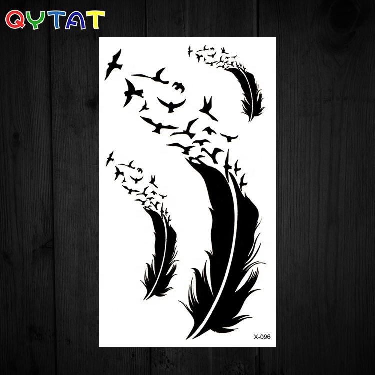 New Designs Feather Waterproof Temporary Tato Sticker Body Arts Tattoo Sexy