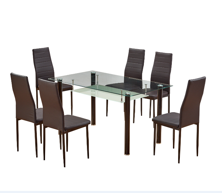 Nuoyier Newly Black Glass Top Dining Table Set 6 Chairs Buy Dining Table Set 6 Chairs Black Glass Top Dining Table Set 6 Chairs Newly Dining Table Set 6 Chairs Product On Alibaba Com